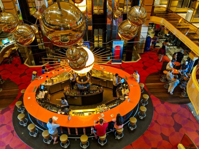 Looking down on the main deck bar on the Carnival Sunshine Ship - 3