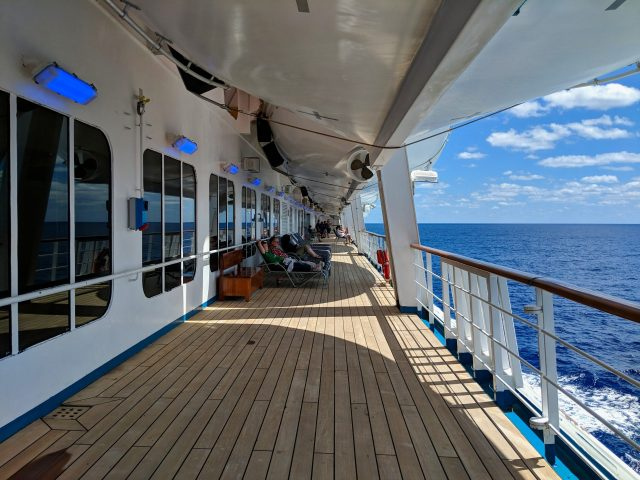 Deck 3 outside on the Carnival Sunshine Ship on a day at sea