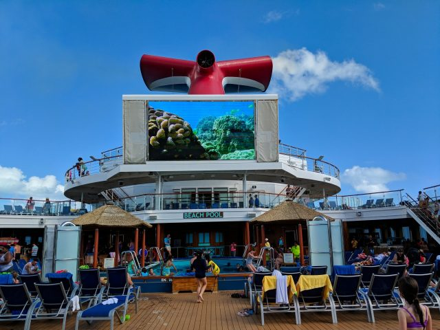 Pool Deck Day at Sea - Carnival Sunshine Ship