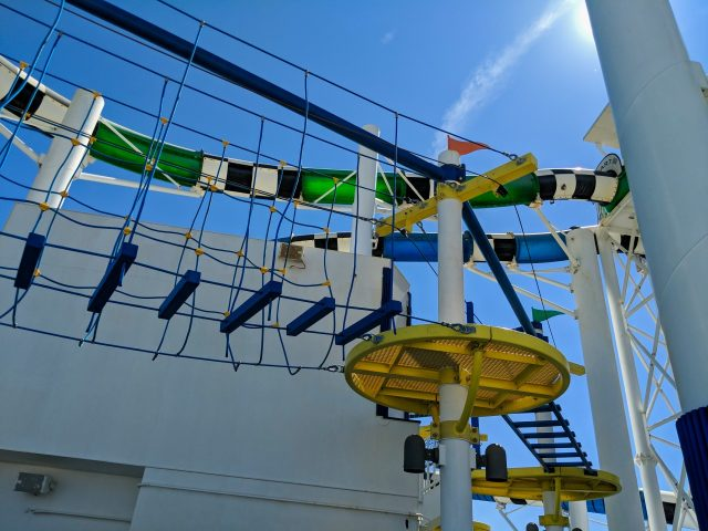 SkyCourse ropes course is lots of fun on the Carnival Sunshine