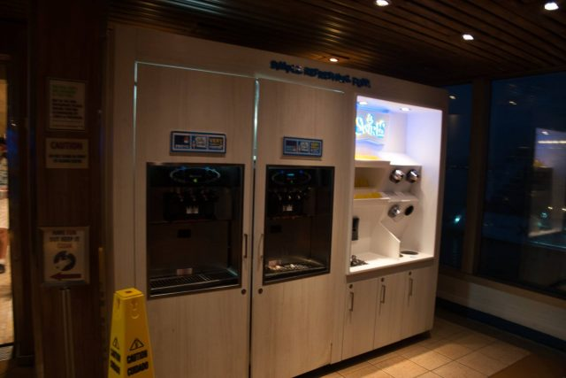 Soft serve self serve on the Carnival Sunshine Spring 2018