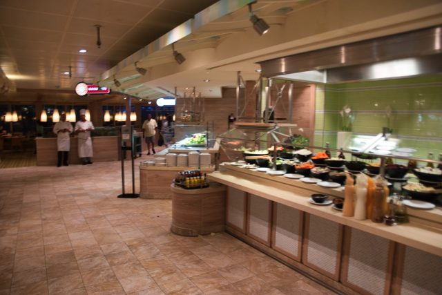 Lido Restaurant salad bar on the Carnival Sunshine Spring 2018