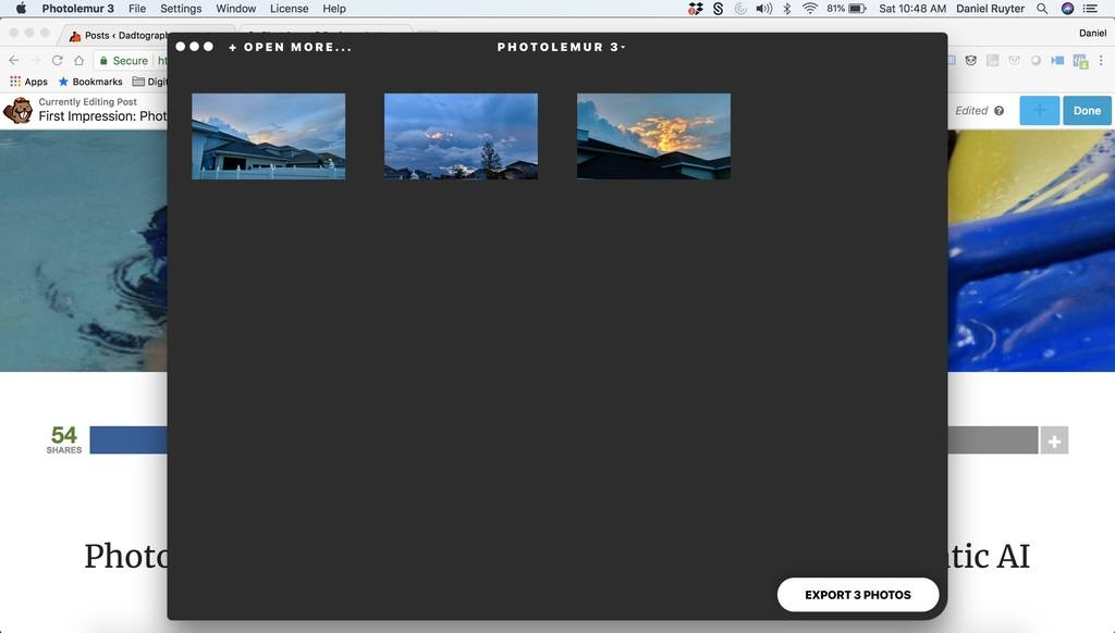 Photolemur 3 Review - Export Multiple Photos