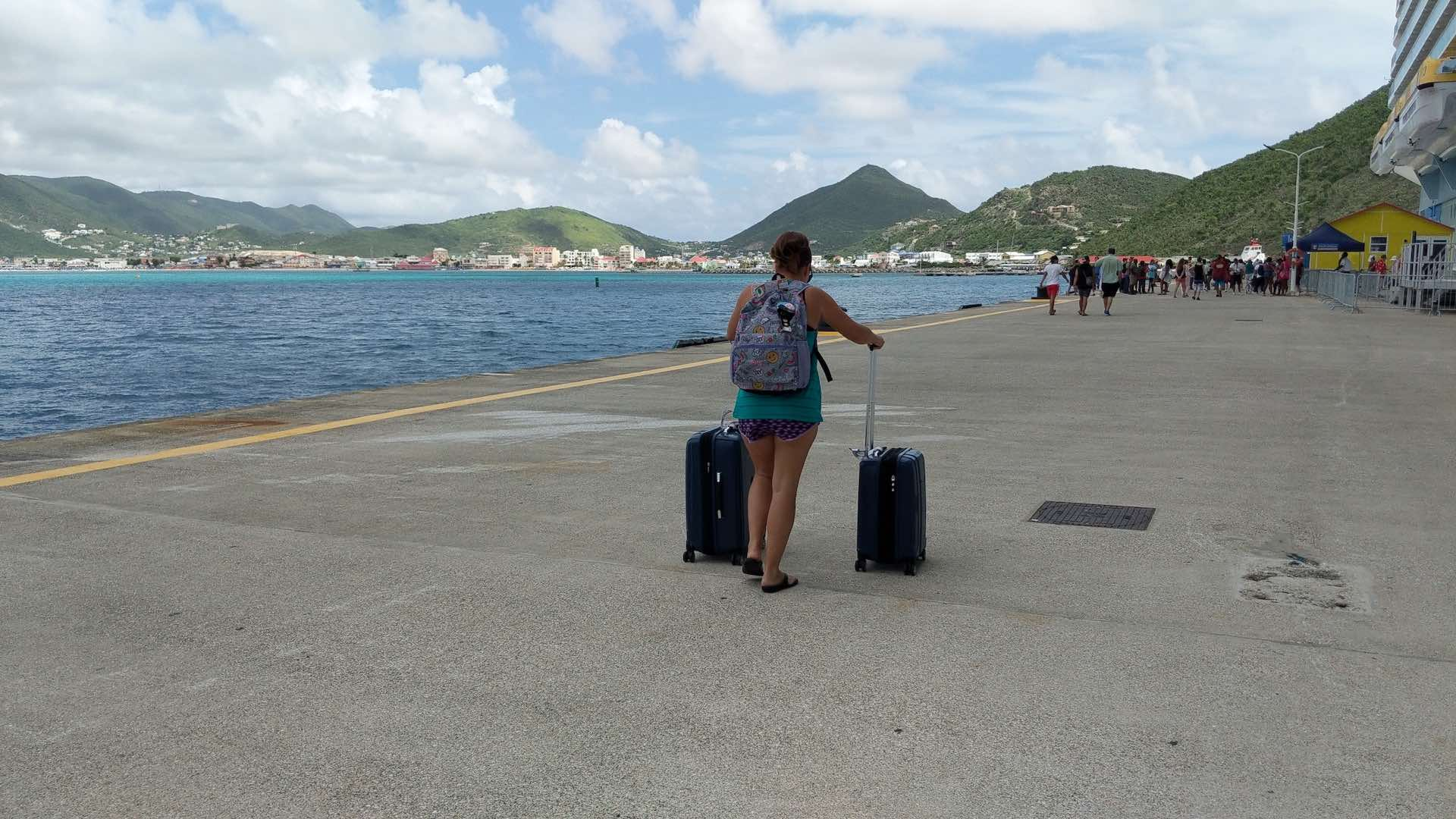Follow the Journey of 200lbs of School Supplies to the Island of St. Maarten aboard Oasis of the Seas