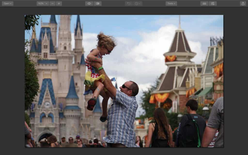 Disney Magic Kingdom Photo Edit Before