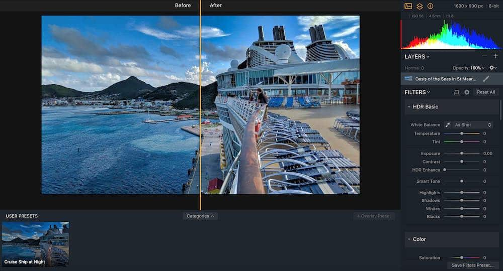 Aurora HDR User Interface
