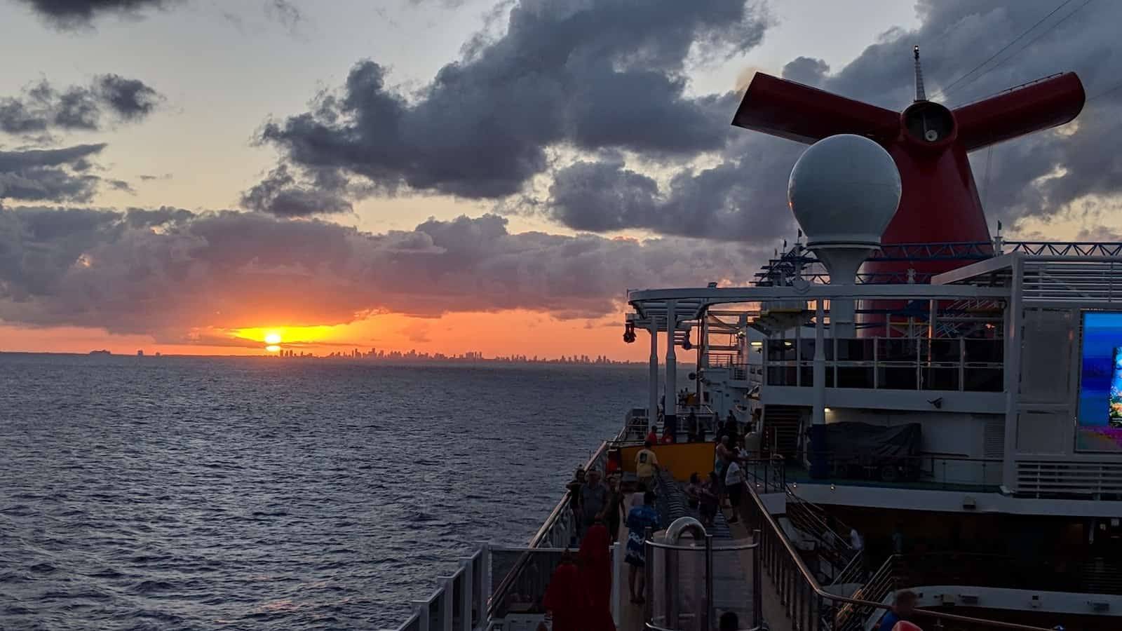 Leaving Miami at Sunset - Carnival Horizon - 8 Night Southern Caribbean3