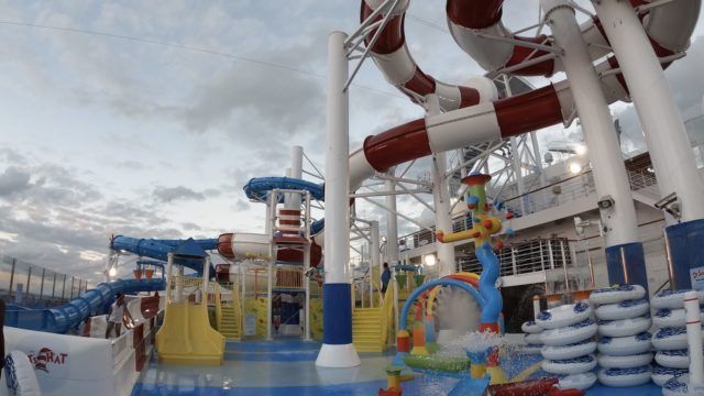 Carnival Horizon Dr Seuss WaterWorks Late Evening