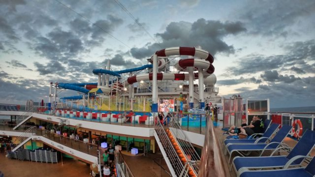 Carnival Horizon Dr Seuss WaterWorks at Sunset