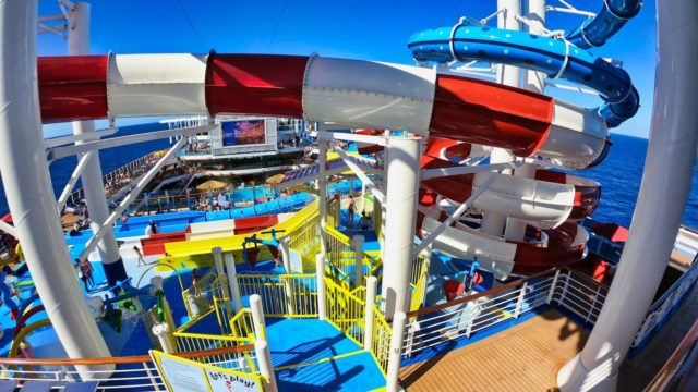 Carnival Horizon View of WaterWorks From Inside