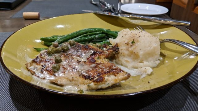 The Grove Resort Orlando Review - Restaurants and Food - Valencia Restaurant Dinner Chicken Picatta