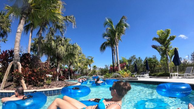 The Grove Resort Orlando Review - Surfari Water Park - Lazy River Tubing
