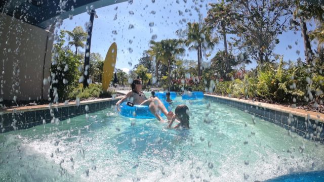 The Grove Resort Orlando Review - Surfari Water Park - Lazy River Water Fall