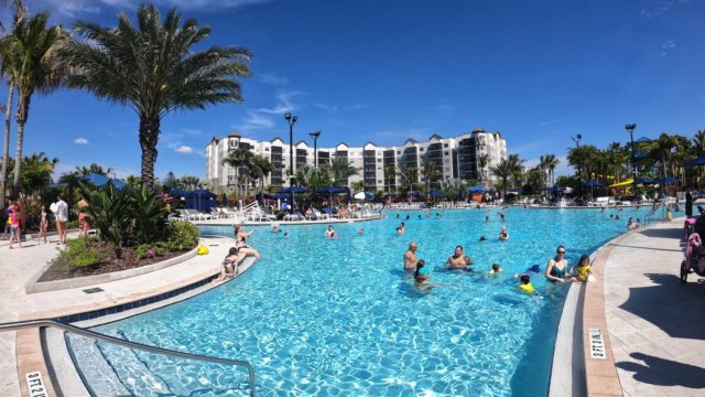 The Grove Resort Orlando Review - Surfari Water Park - Large pool looking toward the hotel