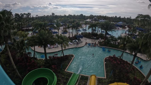 The Grove Resort Orlando Review - Surfari Water Park - View of the park from the top of the water slide tower