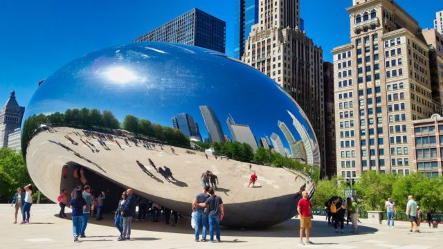 Chicago 2019 - Posing in front of Cloud Gate Chicago