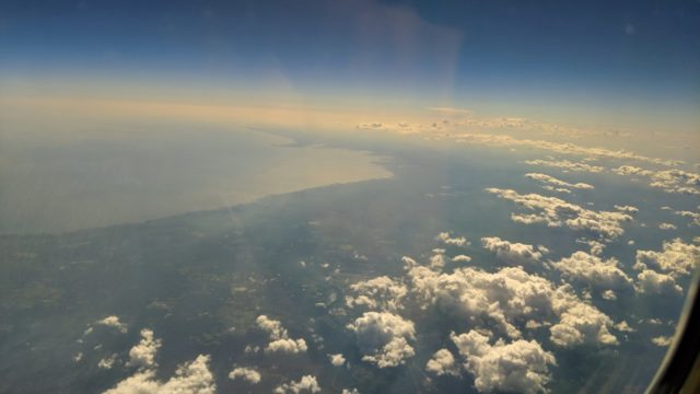 Chicago 2019 - View of the Big Bend Florida Gulf Coast from 33k feet