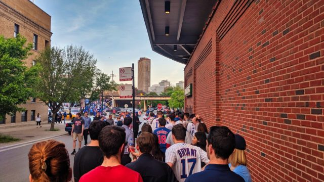 Chicago 2019 - Chicago Cubs vs Philadelphia Phillies - Wrigley Field Gate 10 Line