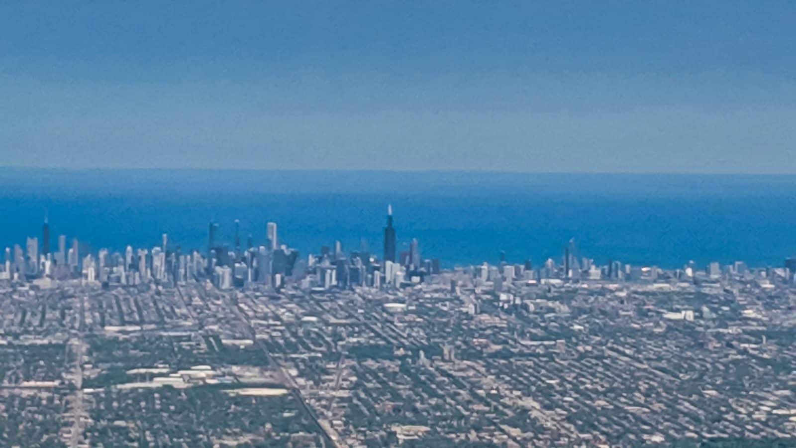 Chicago 2019 - Chicago Skyline from an airplane