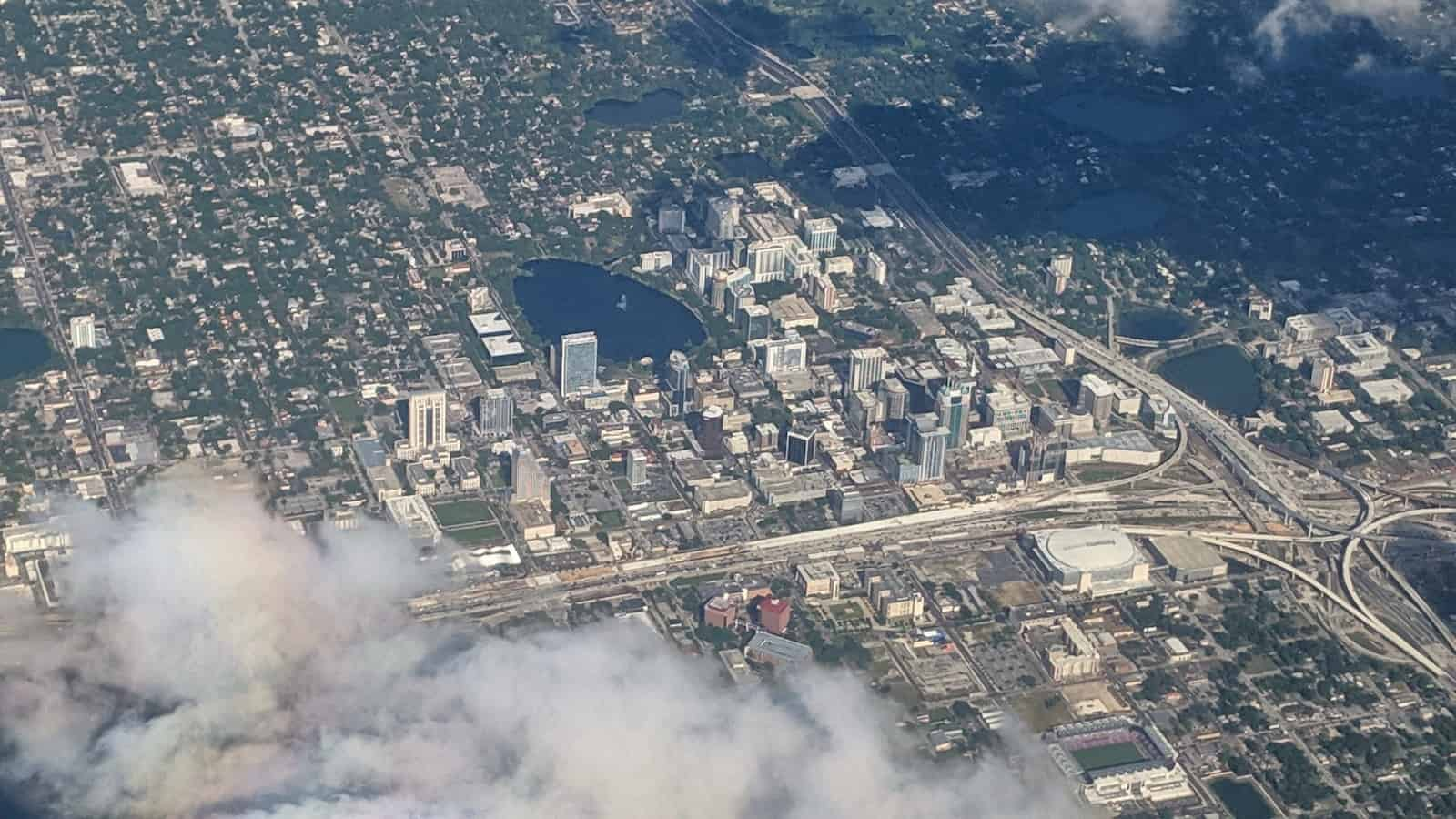 Chicago 2019 - Downtown Orlando from an airplane
