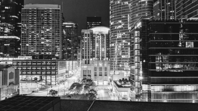 Chicago 2019 - Black & White Night View from Sheraton Grand Chicago