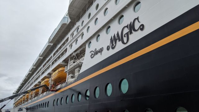 Disney Magic in Port in Portland, England
