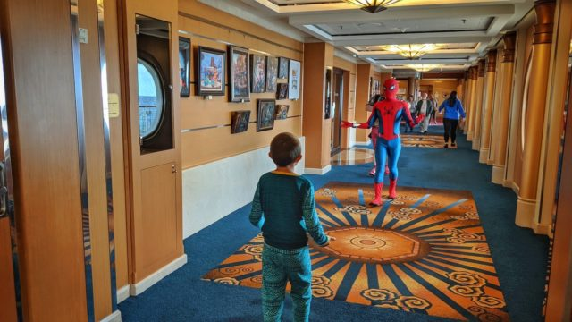 Ethan Meets Spiderman aboard Disney Magic