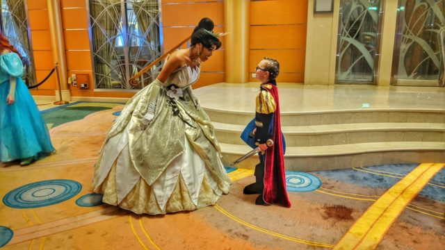 Ethan Meets Tiana aboard Disney Magic
