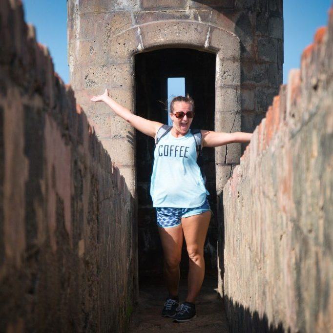 My beautiful wife at Castillo de San Cristóbal, San Juan, PR Spring 2018